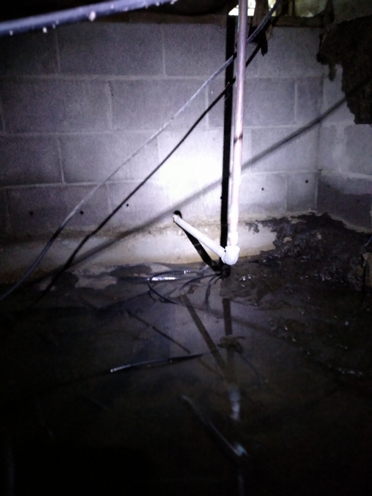 Some extreme leaks underground require extreme measures. Sometimes it\'s easier and less expensive to lay out new underground PEX from the street to the crawlspace.