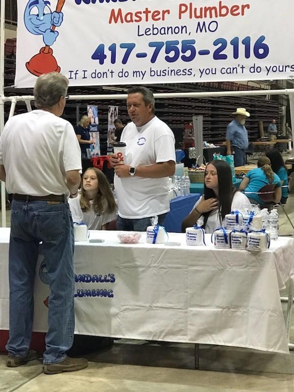 Booth at Cowan Center Trade Show in Lebanon, MO