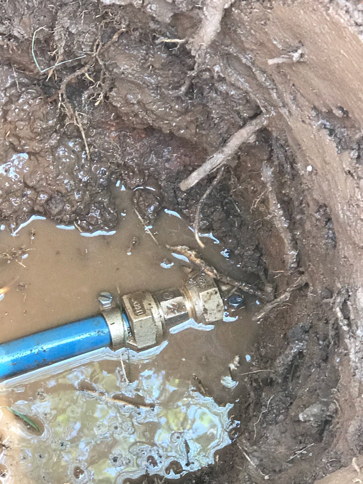During - Repairing Main Water Line in Springfield, MO