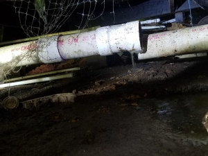 Here's a separated main drain under a house. It was a challenging job to say the least!